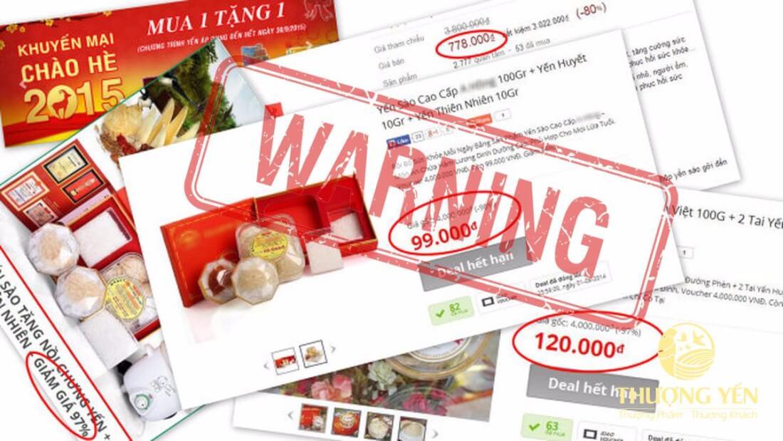 Các loại yến sào giả bán công khai trên mạng với giá... chưa đến 100k cho 100g