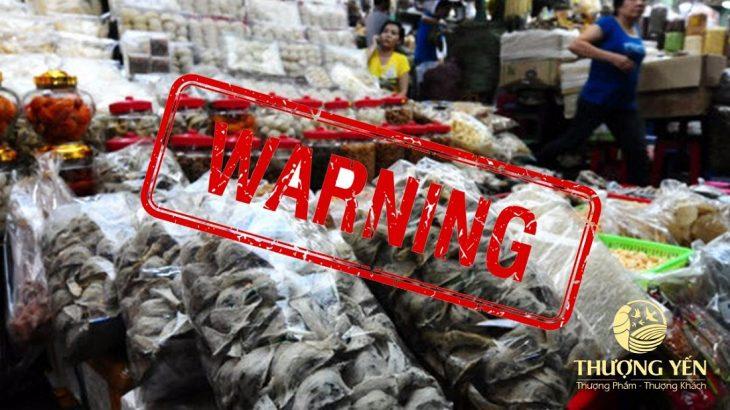 Cảnh giác với tổ yến giá rẻ kém chất lượng