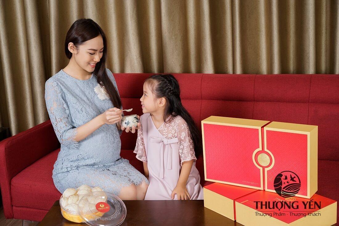 công dụng của yến chưng với mẹ bầu