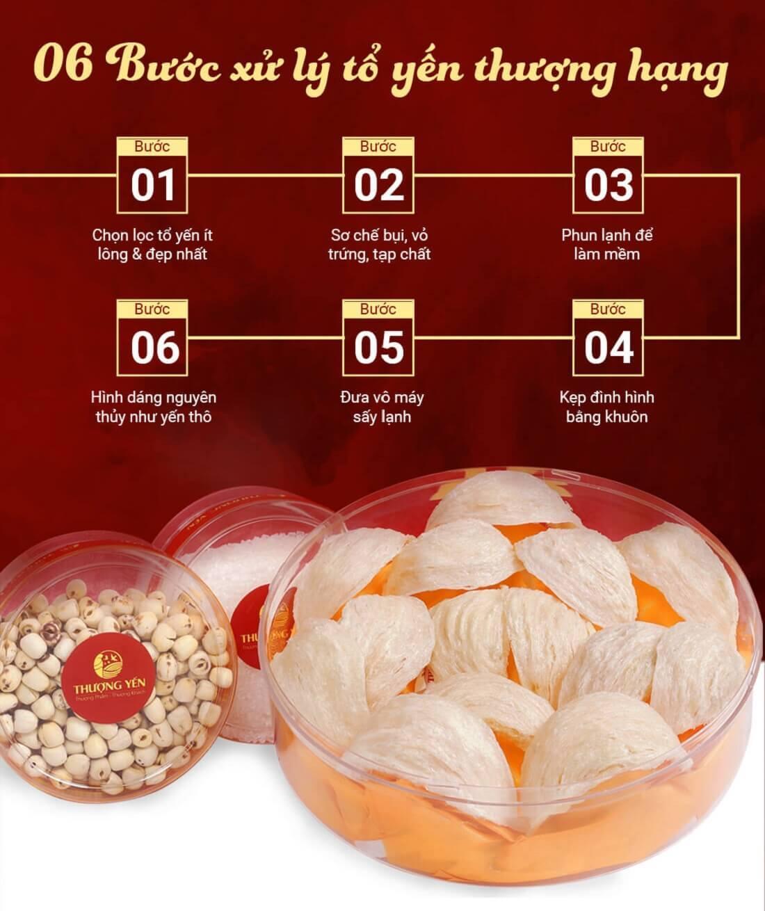 6 bước xử lý tổ yến Thượng Hạng