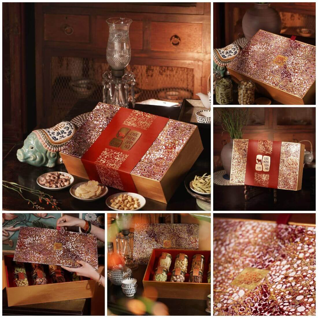 Mẫu hộp quà tết doanh nghiệp - Trứng Đồng